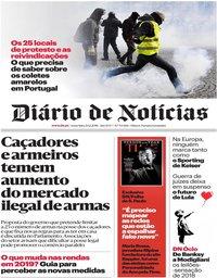 capa Diário de Notícias de 21 dezembro 2018
