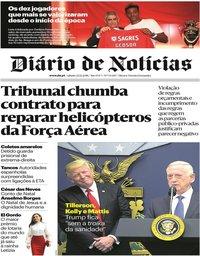 capa Diário de Notícias de 22 dezembro 2018