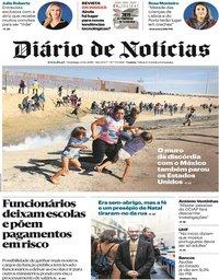 capa Diário de Notícias de 23 dezembro 2018