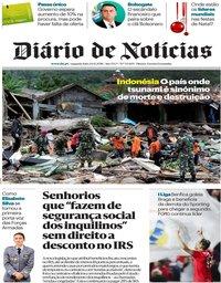 capa Diário de Notícias de 24 dezembro 2018