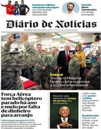 capa Diário de Notícias de 27 dezembro 2018