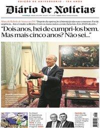 capa Diário de Notícias de 29 dezembro 2018