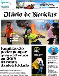 capa Diário de Notícias de 30 dezembro 2018
