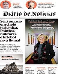 capa Diário de Notícias de 31 dezembro 2018