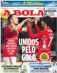 capa Jornal A Bola de 6 dezembro 2018