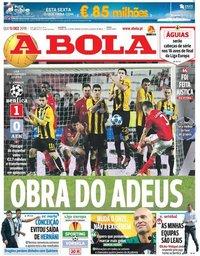 capa Jornal A Bola de 13 dezembro 2018