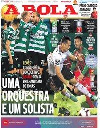 capa Jornal A Bola de 17 dezembro 2018