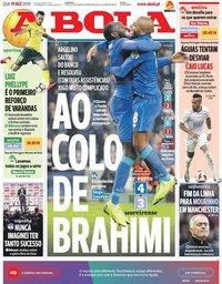 capa Jornal A Bola de 19 dezembro 2018