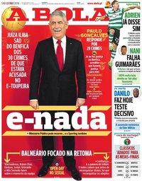 capa Jornal A Bola de 22 dezembro 2018