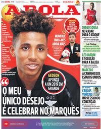 capa Jornal A Bola de 26 dezembro 2018