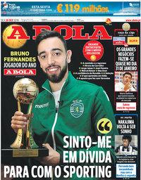 capa Jornal A Bola de 28 dezembro 2018
