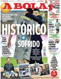 capa Jornal A Bola de 31 dezembro 2018
