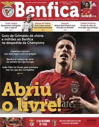 capa Jornal Benfica de 14 dezembro 2018