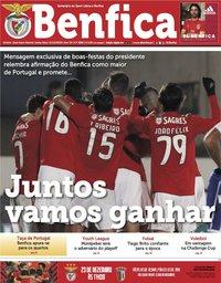 capa Jornal Benfica de 21 dezembro 2018
