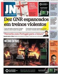 capa Jornal de Notícias de 2 dezembro 2018