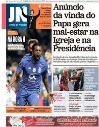 capa Jornal de Notícias de 3 dezembro 2018