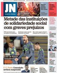 capa Jornal de Notícias de 4 dezembro 2018