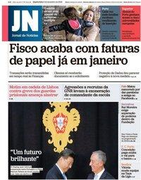 capa Jornal de Notícias de 5 dezembro 2018