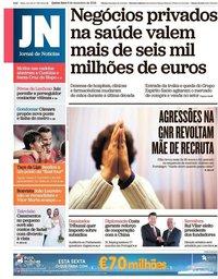 capa Jornal de Notícias de 6 dezembro 2018