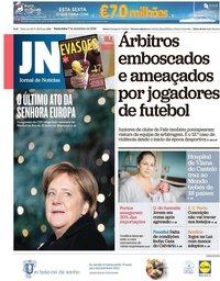 capa Jornal de Notícias de 7 dezembro 2018