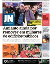 capa Jornal de Notícias de 9 dezembro 2018