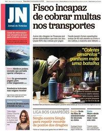 capa Jornal de Notícias de 11 dezembro 2018