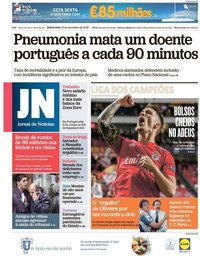capa Jornal de Notícias de 13 dezembro 2018