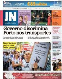 capa Jornal de Notícias de 14 dezembro 2018