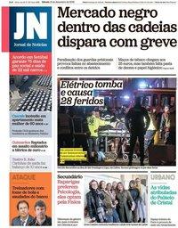 capa Jornal de Notícias de 15 dezembro 2018