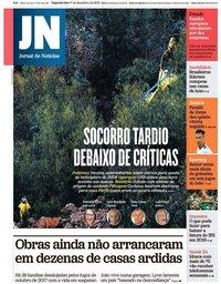 capa Jornal de Notícias de 17 dezembro 2018