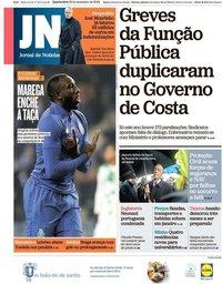 capa Jornal de Notícias de 19 dezembro 2018
