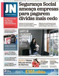 capa Jornal de Notícias de 20 dezembro 2018