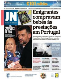 capa Jornal de Notícias de 21 dezembro 2018