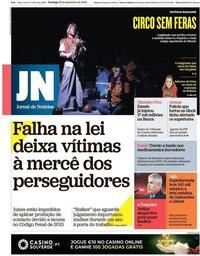 capa Jornal de Notícias de 23 dezembro 2018