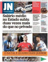 capa Jornal de Notícias de 24 dezembro 2018
