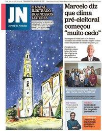 capa Jornal de Notícias de 25 dezembro 2018