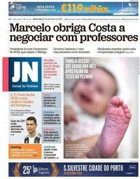 capa Jornal de Notícias de 27 dezembro 2018