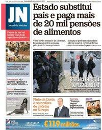 capa Jornal de Notícias de 28 dezembro 2018