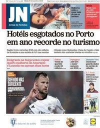 capa Jornal de Notícias de 29 dezembro 2018