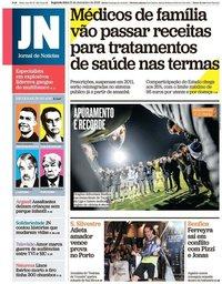 capa Jornal de Notícias de 31 dezembro 2018
