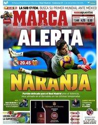 capa Jornal Marca de 1 dezembro 2018