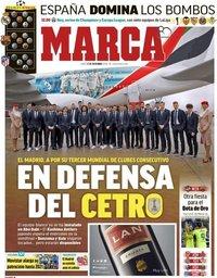 capa Jornal Marca de 17 dezembro 2018