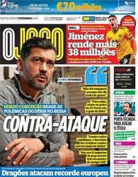 capa Jornal O Jogo de 7 dezembro 2018