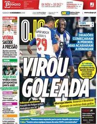 capa Jornal O Jogo de 8 dezembro 2018