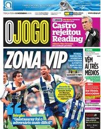 capa Jornal O Jogo de 11 dezembro 2018