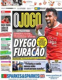 capa Jornal O Jogo de 15 dezembro 2018