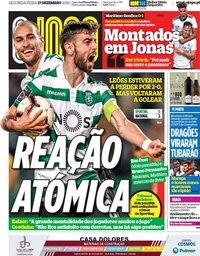 capa Jornal O Jogo de 17 dezembro 2018