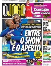 capa Jornal O Jogo de 19 dezembro 2018