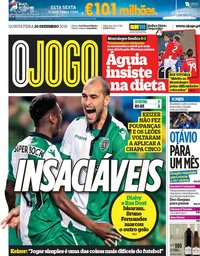 capa Jornal O Jogo de 20 dezembro 2018
