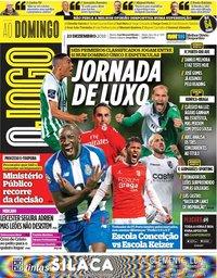 capa Jornal O Jogo de 23 dezembro 2018